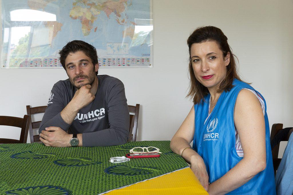 Giornata Mondiale del Rifugiato - Carlotta Sami di UNHCR e Lino Guanciale (Trieste, giugno 2018)